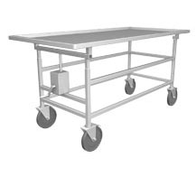 ELEVATED AUTOPSY CART (One Side) with STAINLESS STEEL TOP