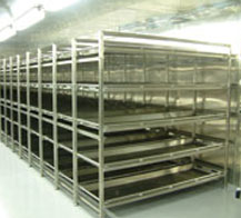 MORTUARY STORAGE RACK SYSTEM